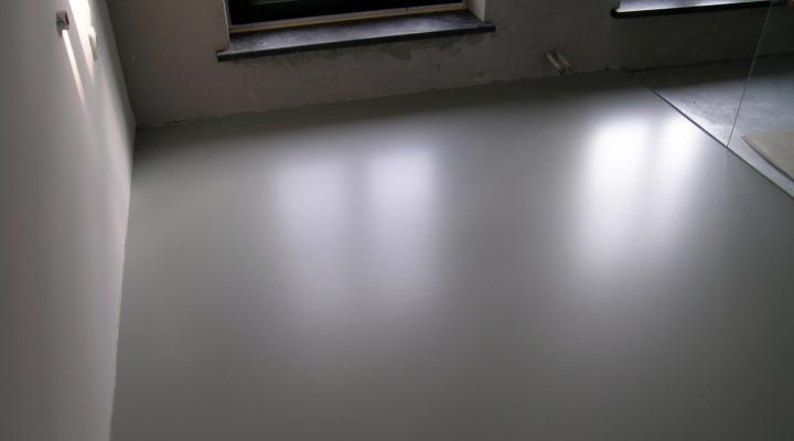 Vloerconcept - PU gietvloer - RAL 7030